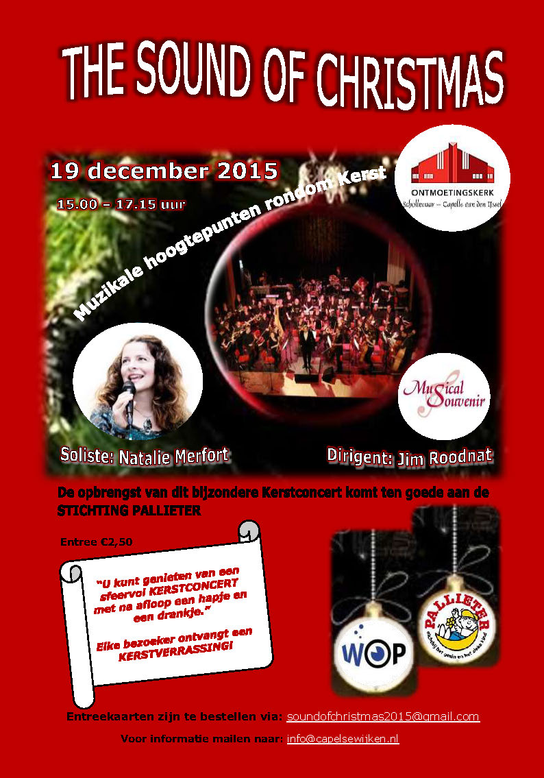 flyer-poster Sound of Christmas Concert definitief